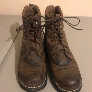 Ariat boots. Lace up